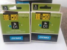 Nastro D1 6mmx7m Nero/Giallo Dymo S0720780 quantita' 2 cartucce