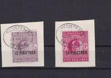 British Levant 12pi and 24pi superb used on piece