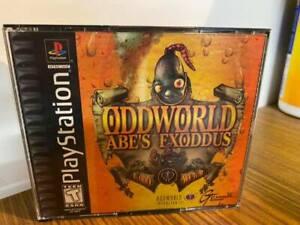 Oddworld Ab's Exoddus game - Sony PlayStation PS1 - W/ Case & Manual