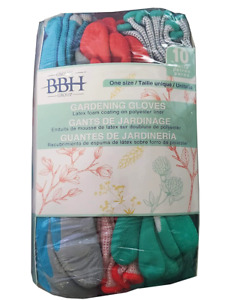 Groupe BBH Women's High Quality Gardening Gloves 10 Pairs -One Size Value Pack