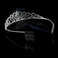 Flower Crystal Hair Pins Bridal Bridesmaid Side Comb Jewelry Wedding KI