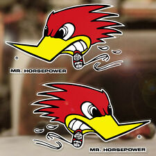 2x Stück Mr. Horsepower Sticker Clay Smith Autocollante Aufkleber Paar 265mm