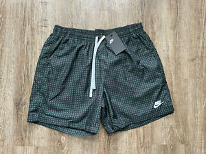 Nike Men's NSW Check Woven Flow Lined Shorts Galactic Jade Sz Medium DA0051-337