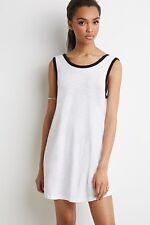 NWT New Forever 21 V-Cut Back Dress White Black Medium M