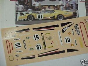 1/43 DECALS DECAL CAR FERRARI 512 BB BELGE LE MANS N.61 YELLOW 1979 FULL DECAL
