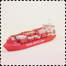 1:400 Scale Denmark Mary Arctica Cargo Containership Diy Handcraft Paper Model