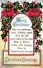Weihnachten, amerik. Prägekarte, 1912