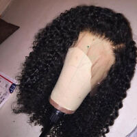 Kinky Curly Human Hair Wig Brazilian Lace Front Wig Virgin Pre Plucked Full Wigs