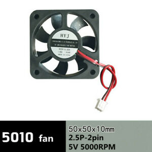 Computer CPU notebook graphics card cooling fan 5V 5010 2 pin mute ultra thin