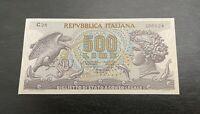 500 LIRE BIGLIETTO DI STATO ARETUSA 23/04/1975 FDS UNC Italy Banknote Very Rare