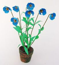 Dolls House FLOWER KIT 'BLUE POPPIES' miniature garden plant flower 12th