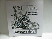 CHOPPER  BOBBER  RAT ROD  HOT ROD DECAL STICKER     CHOPPERS  RULE