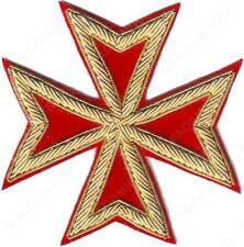 ST. JOHN ORDER MALTA KNIGHTS MALTESE CROSS HAND EMBROIDERED (ME-005)