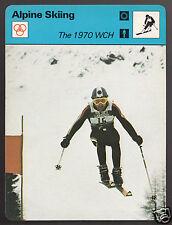1970 DOWNHILL SKIING CHAMPIONSHIP Bernhard Russi 1979 SPORTSCASTER CARD 53-03