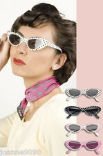 50s Sandy Pink Lady Fancy Dress Costume Festival Glasses Sunglasses Shades Specs
