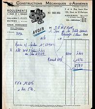 """ASNIERES-sur-SEINE (92) USINE de ROULEMENTS à BILLES """"C.M.A."""" en 1958"""