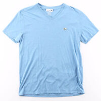 LACOSTE  Blue Logo Short Sleeve T-Shirt Mens M
