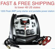 FREE SHIPPING New Schumacher 1200-AMP 18000mAh Power Jump Starter Air Compressor