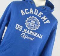 US Marshall Blue Graphic Cotton Blend Mens Hoodie Size M