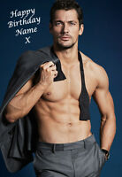 DAVID GANDY, A5 Personalised Birthday Card Any Name / Age, l@@k FABULOUS!!! 1