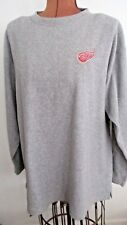 Embroidered DETROIT RED WINGS Gray Polyester Fleece PRO EDGE Sweatshirt/Size XL