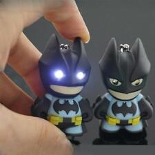 1PC Cartoon Batman Torch Sound LED Lamp Light Keyring Key Chain Kids Toy Gift LC