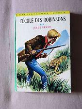 L'ECOLE DES ROBINSONS  PAR JULES VERNE   -  BIBLIOTHEQUE VERTE