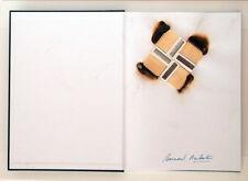 Bernard Aubertin fiammiferi e conbustioni su libro 31x45
