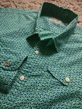 FUNKY SCOTCH & SODA CLOTHING COMPANY GREEN SHIRT MEDIUM MENS PTP 21 INCHES