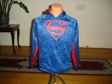 DC Superman Youth Sz 2XL (18) Hoodie Red/Blue