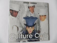 CULTURE CLUB GREATESTS HITS VOLUME TWO PROMO CD ALBUM