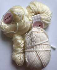 Yarn Bundle Knit Crochet Cream Crafts Clear Out Job Lot
