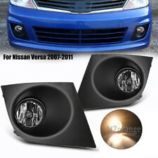 Fog Light Cover Front Bumper Lamp for Nissan Versa 2007-2011 w/ Bulb Left&Right