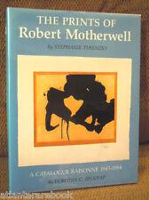 ROBERT MOTHERWELL SIGNED 1st Prints of Robert Motherwell Catalogue Raisonne RARE