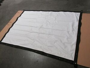6x4.6 foot Harkness front & rear projection fastfold screen KIT & drapes (G12)