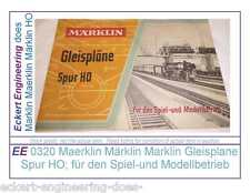 Ee 0320 New Maerklin Märklin Marklin Gleisplane Spur Ho für Spiel-und Modellbet