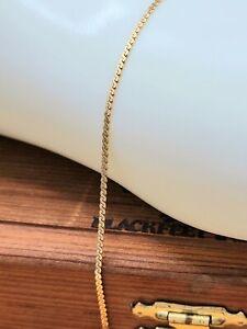 "14k Yellow Gold Italy Serpentine Chain Bracelet - 6"" - 1.1 Grams"