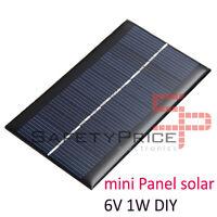 6V 1W Panel Solar Arduino DIY BRICOLAJE Móvil Cargador Fotovoltaico Célula SP