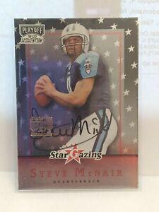 1999 Playoff Momentum SSD Steve McNair Star Gazing Autograph Insert Card