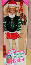 NIB-CHRISTMAS HOLIDAY SEASON BARBIE DOLL-1996-SPECIAL EDITION-TREE SWEATER-SANTA