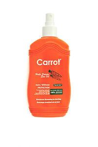 Carrot Sun Tan Accelerator Tanning Spray with L-Tyrosine, Carrot, Fruit, Nut Oil