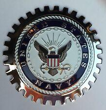 U.S. NAVY GRILLE BADGE GMC FORD PICKUP CHEVROLET EMBLEM