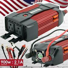 Audiotek 900W Watt Power Inverter DC 12V AC 110V Car Converter USB port Charger