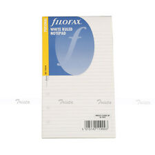Filofax Personal Size Organiser White Ruled Notepad Refill Insert 132210 Gift