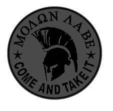 Grey Molon labe Morale military Tactical Patch Applique