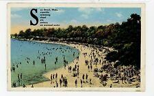 "See ONSET MA ""Scientific—Swimming--Sanitary"" Rare Antique PC Kashimura Pub 1930s"