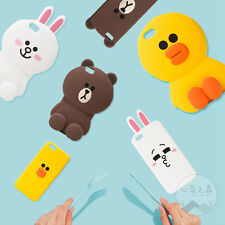 Cartoon Cute 3D Bear Rabbit Soft Silicone Case Cover for iPhone X 5S 6S 7 8 Plus