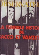 Nouvel Observateur Sacco et Vanzetti juin 1971 / Numero 342