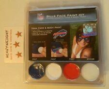 HALLOWEEN FACE PAINT KIT RED WHITE BLUE BUFFALO BILLS NFL LICENSED W/ STENCILS