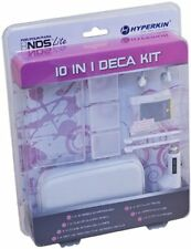 NEW White 10 in 1  Kit for Nintendo DS LITE Car Charger Earphones Stylus Case